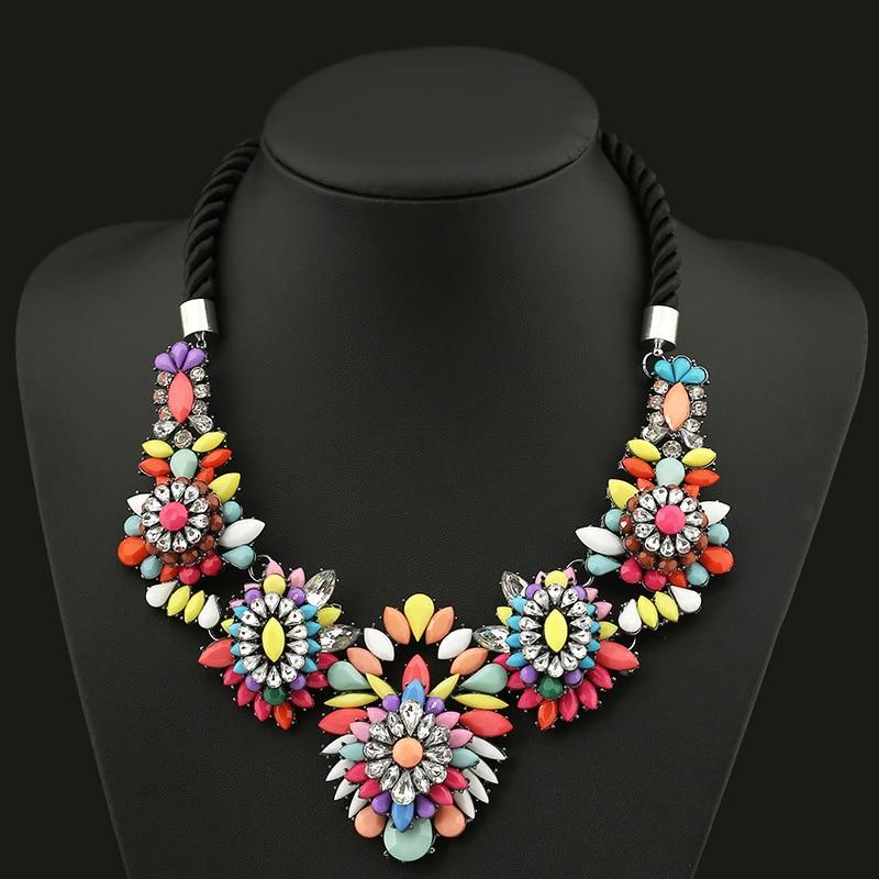 2016 Collier Femme Necklaces Pendant Black Statement Bijoux Crystal Jewelry Choker Vintage braided necklace fashion accessories