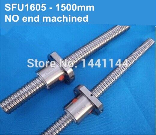 Ballscrew SFU1605-1500mm com porca do parafuso da esfera para CNC parte sem fim usinado