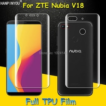 Front / Back Full Coverage Clear Soft TPU Film Screen Protector For ZTE Nubia V18 6.0