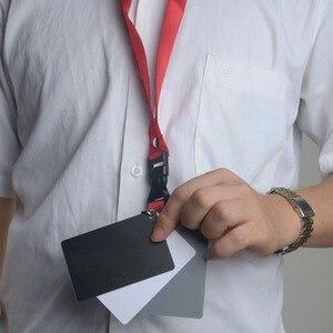 Image 2 - Цифровая камера 3 в 1 карманный размер белый черный серый баланс карты 18 процентов серая карта с шейным ремешком для цифровой фотографии