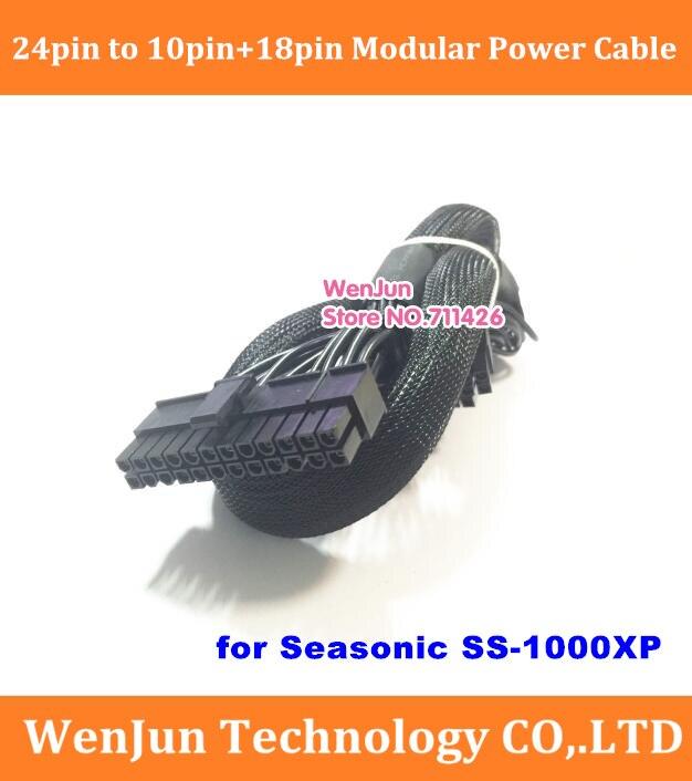 Alta calidad 60cm 24Pin a 18pin + 10Pin Modular cable adaptador de fuente de alimentación para Seasonic SS-1000XP serie