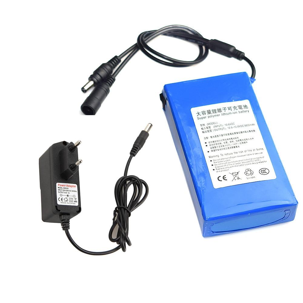 Mobile Power Bank Case External DC 12V 6800-18000mAh Super Rechargeable Li-ion Lithium Battery Pack +EU Plug For MP3 Phone