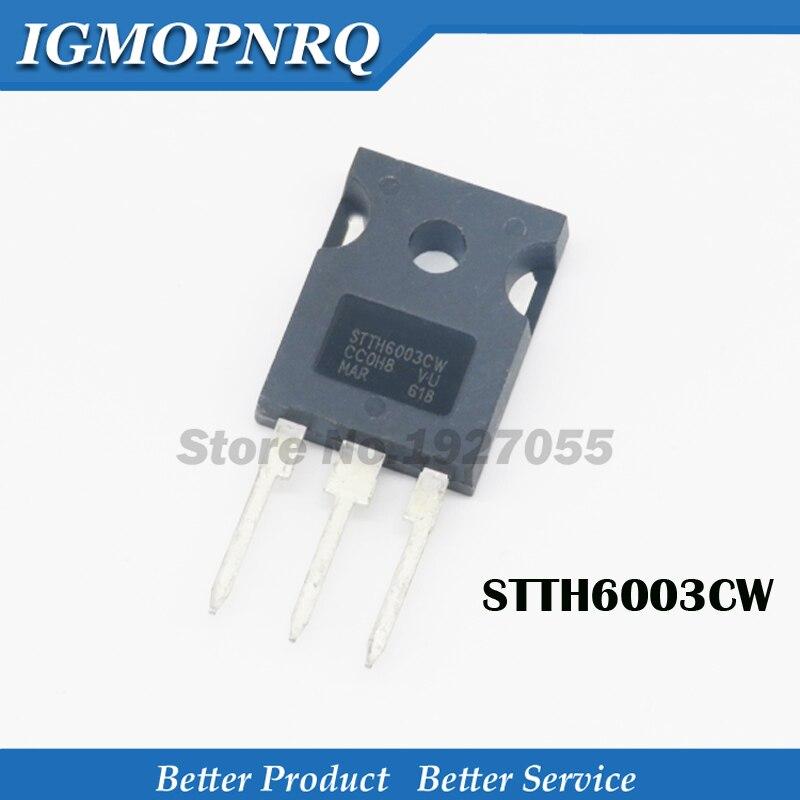 5 uds STTH6003CW-247 STTH6003 TO-3P 300V 60A nuevo original
