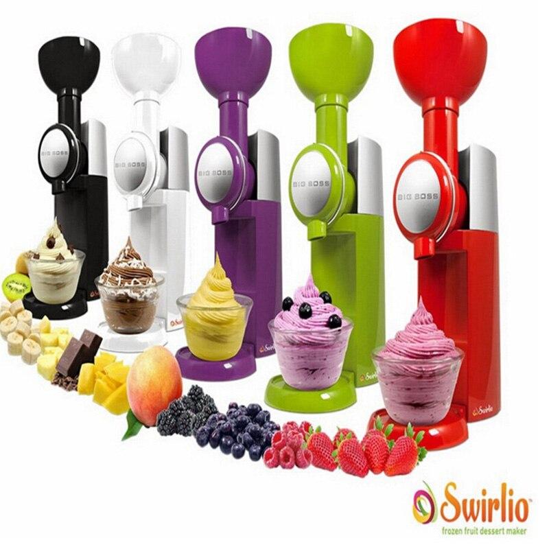 Big Boss Swirlio Gefrorene Obst Maschine Eis Hause Voll Automatische Mini Slush Maschine Haushalt Eismaschine