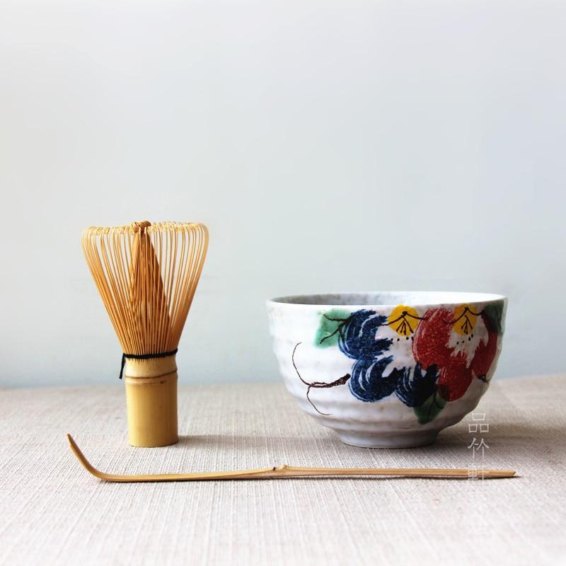 طقم شاي ماتشا من الخيزران الطبيعي ، أنيق ، تقليدي ، مع حامل ، لمضرب الماتشا الياباني ، مجموعة هدايا