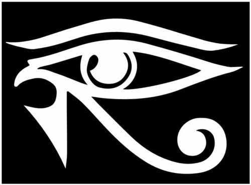 (2 uds) pegatina de protección egipcia de Ojo de Horus, pegatina ra sun god de 15cm