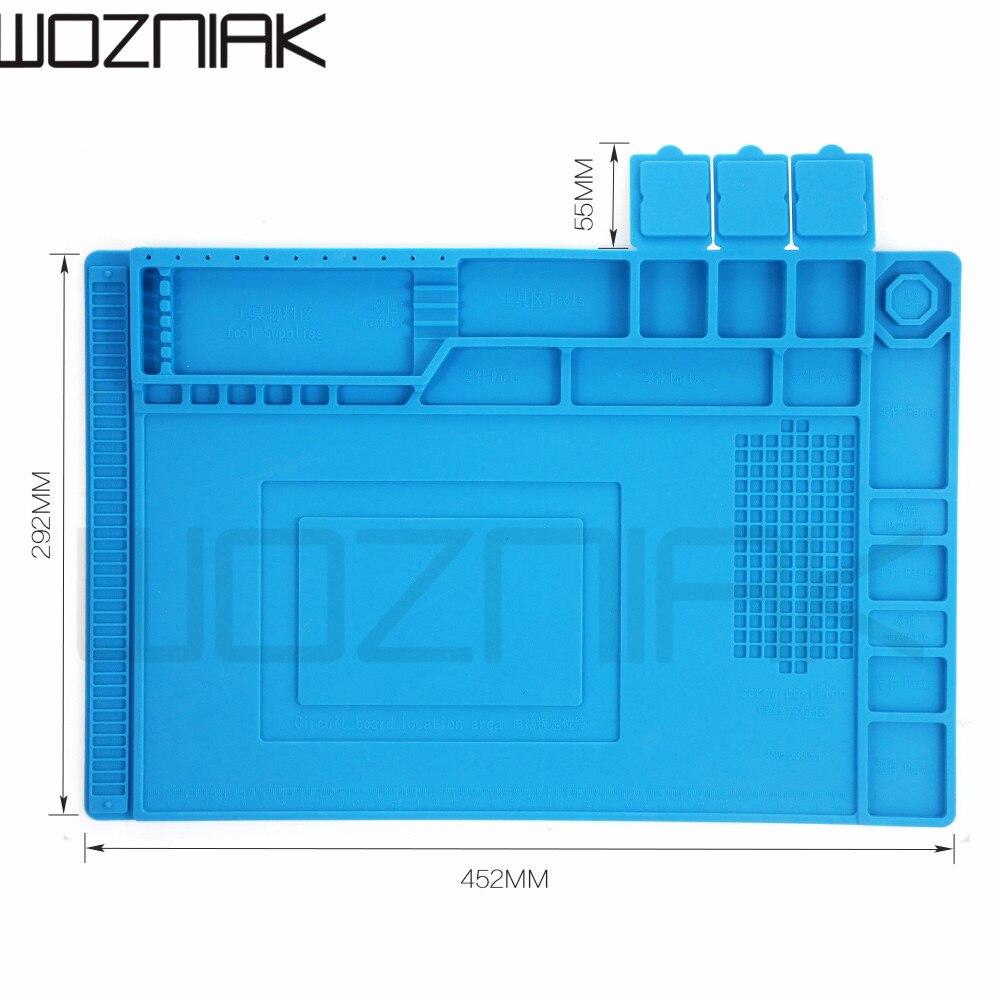 452x292 радио Магнитный высокотемпературный устойчивый силиконовый антистатический коврик резиновая прокладка для ремонта мобильного компьютера изоляционная прокладка