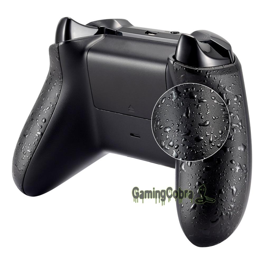 Paneles traseros negros con textura, raíles laterales antideslizantes cómodos, mangos de salpicadura 3D para Xbox One X y para el controlador Xbox One S