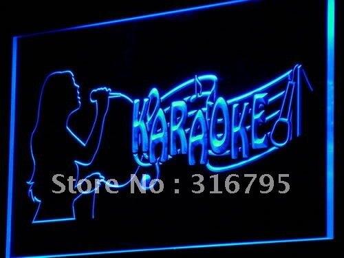 I843 Karaoke Singing Lady Display Bar światło neonowe LED znaki świetlne włącznik/wyłącznik 20 + kolory 5 rozmiarów