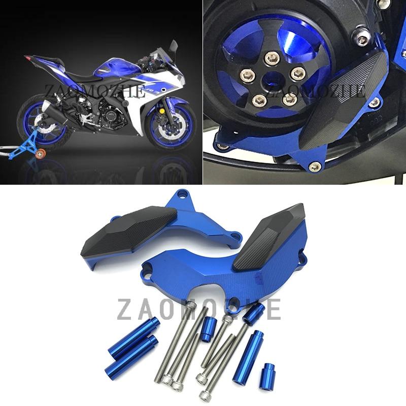 Für Yamaha MT03 MT25 YZF R3 2015 2016 Motor Slider Protector Naked Bike Motor Rahmen Sliders Schutz Abdeckung Pad YZF-R25 2013-2016