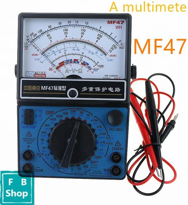 MF47 AC DC Вольтметр Амперметр Омметр аналоговый мультиметр