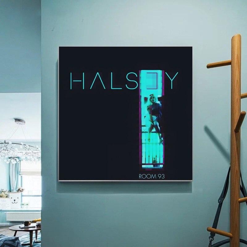 Póster para sala 93 de Halsey, Álbum de Música, lienzo, cuadros de pared para sala de estar, sin marco