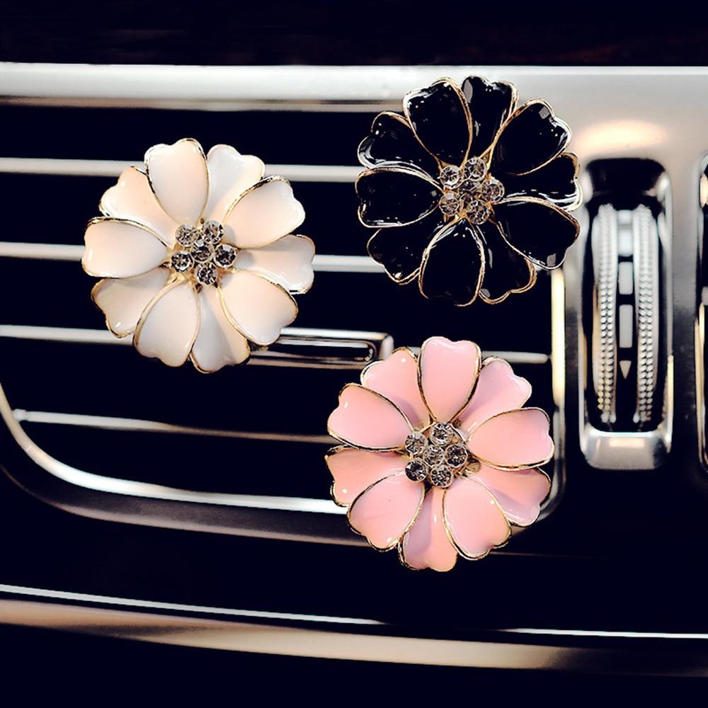 Автомобильный орнамент Маргаритка цветок освежитель воздуха на выходе автомобиля распылитель ароматов Авто Украшение Аксессуары подарок