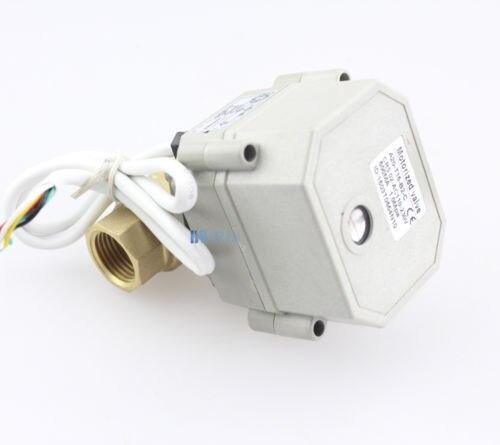 HSH-Flo DN8-32 AC110-230V 2 vías de diámetro completo válvula de bola motorizada NPT/BSP latón, 4 cables de Control de la válvula de bola eléctrica CR4-01