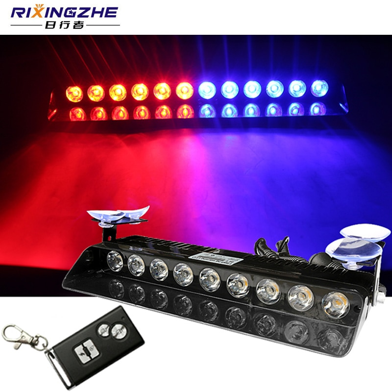 RXZ Remote control Police Light strobe Flasher warning light 9 12 LED Car Truck Emergency Day Running Flash Led strobe light