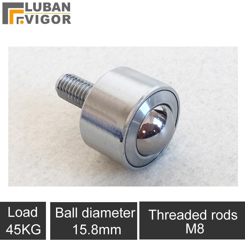 Precision straight universal ball / casters/wheel,KSM15-FL Universal ball bearing/M8 screw cylinder,360degree,Cattle eye round