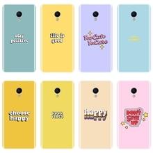 TPU For Meizu M6 M5 M3 M2 Note Phone Case Silicone Yellow Quote Purple Soft Back Cover For Meizu M6 M6S M6T M5 M5C M5S M3 M3S M2