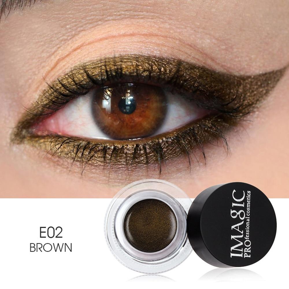 IMAGIC Make-Up Neue 3 Farbe Eyeliner Schnell trocknend Wasserdicht Nicht Blühenden Natürliche langlebig Pinsel Tragbare Eyeliner Kajal TSLM1