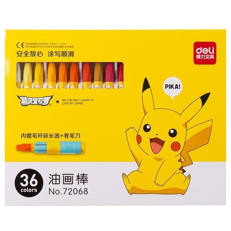 Crayón de cera de 18/24/36 colores para dibujo no tóxico pluma para pintura al óleo lápices de colores niños escuela Oficina suministros de arte