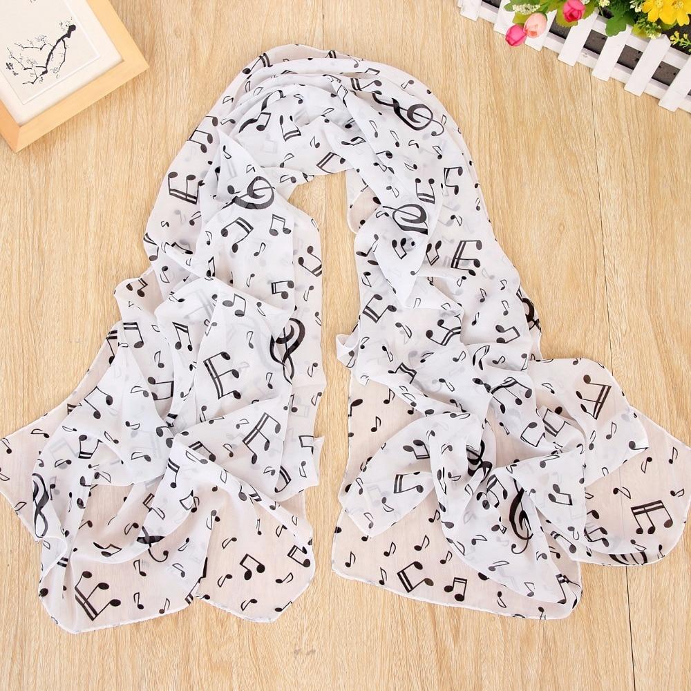 2018 hot music symbols ladies scarf printed chiffon scarf beach towel