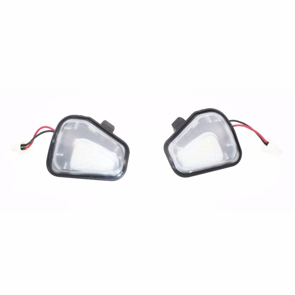 Libre de Error 18 LED blanco coche Luz de espejo lateral charco lámpara bombillas para coche para VW Passat EOS Scirocco CC E marcado Santana