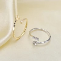 ring mount pearl accessories adjustable size 925 sterling silver ring jewelry diy no pearl