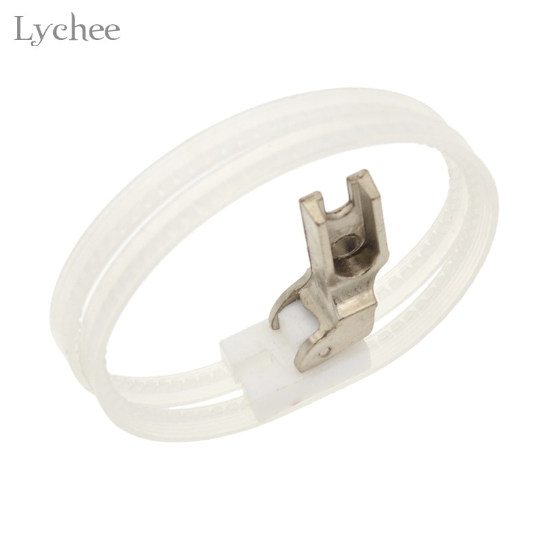 Lychee máquina de costura presser pé rolo duplo presser pé anel de rolo plástico presser pé