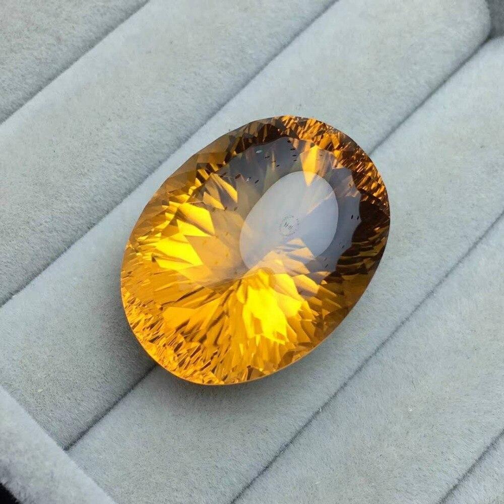 Citrino natural, color brillante, peso 26,8 CT, especificaciones 20,5x16mm, piedra preciosa perfecta calidad perfecta