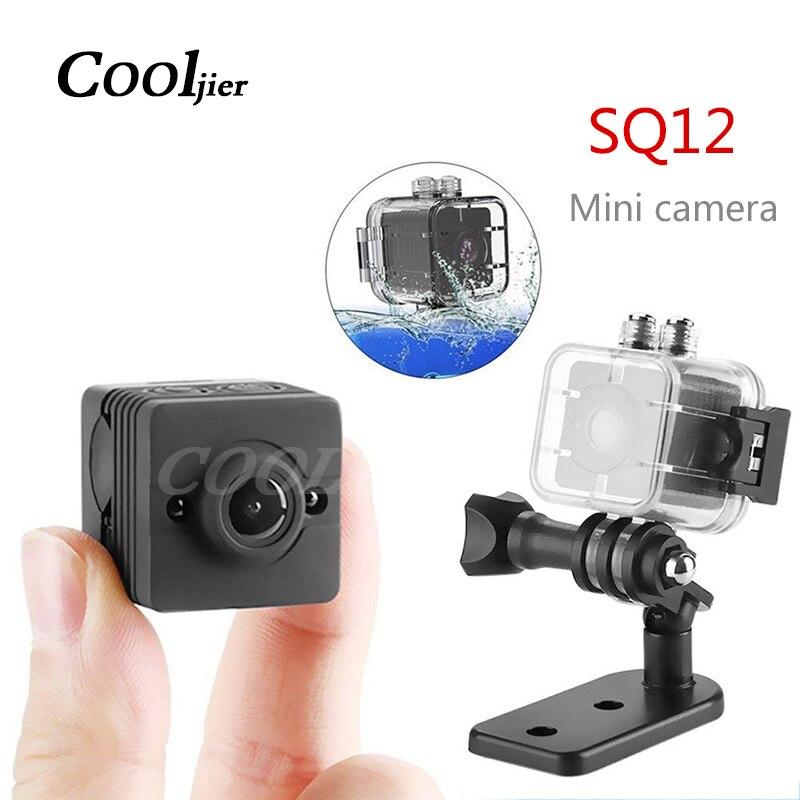 COOLJIER мини камера SQ12 датчик ночного видения Видеокамера движения DVR HD 1080P микро камера DV Спортивная видео маленькая мини камера SQ 12