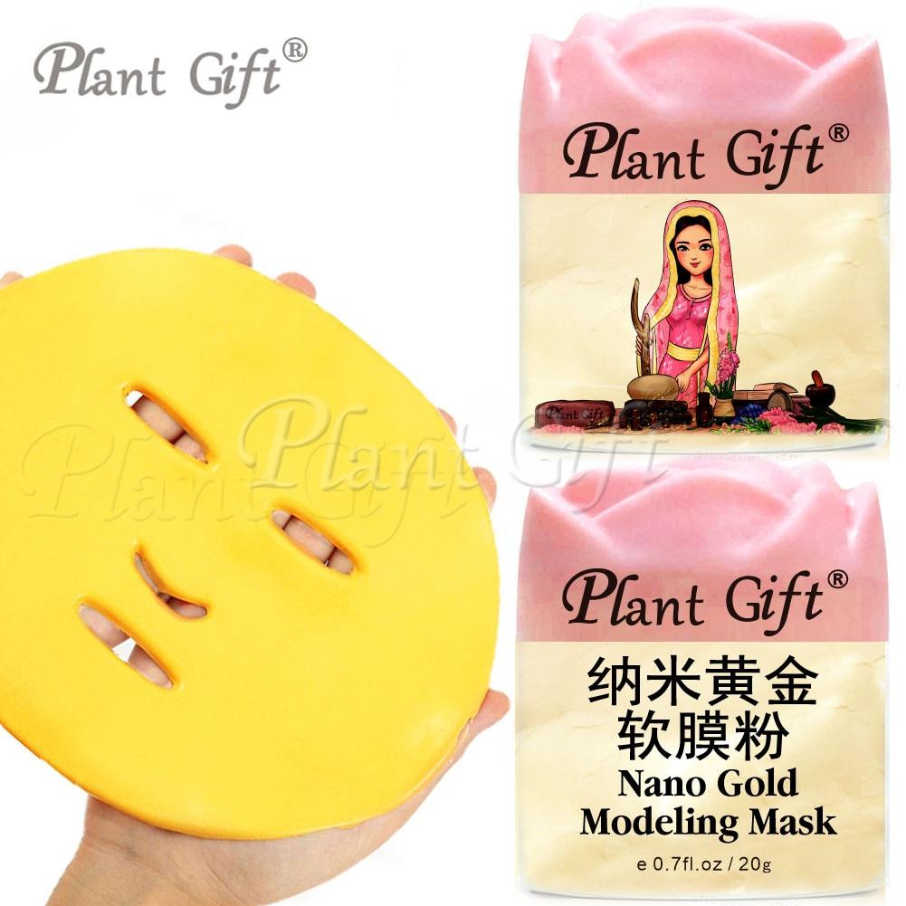 Planta Presente 20g * 2 pcs Nano Ouro Máscara de Modelagem Snik Cuidado Integral, Lisa, Flexível