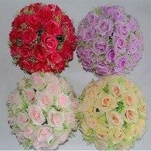 30cm Bola de Rosa flores secas flores artificiales flores de seda flores de plástico casadas colgantes