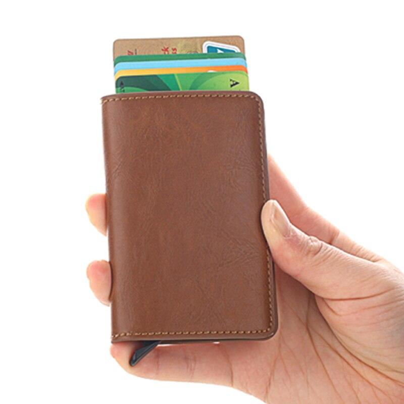 Новый высококачественный кошелек, мужской кошелек, мини-кошелек, Мужской винтажный Автоматический алюминиевый кошелек с держателем для ка...