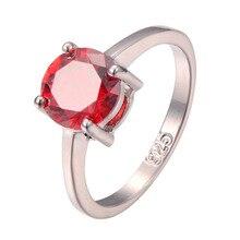 Classique Style Grenat 925 Sterling Argent De Mariage Partie Design De Mode Romantique anneau Taille 5 6 7 8 9 10 11 12 PR19