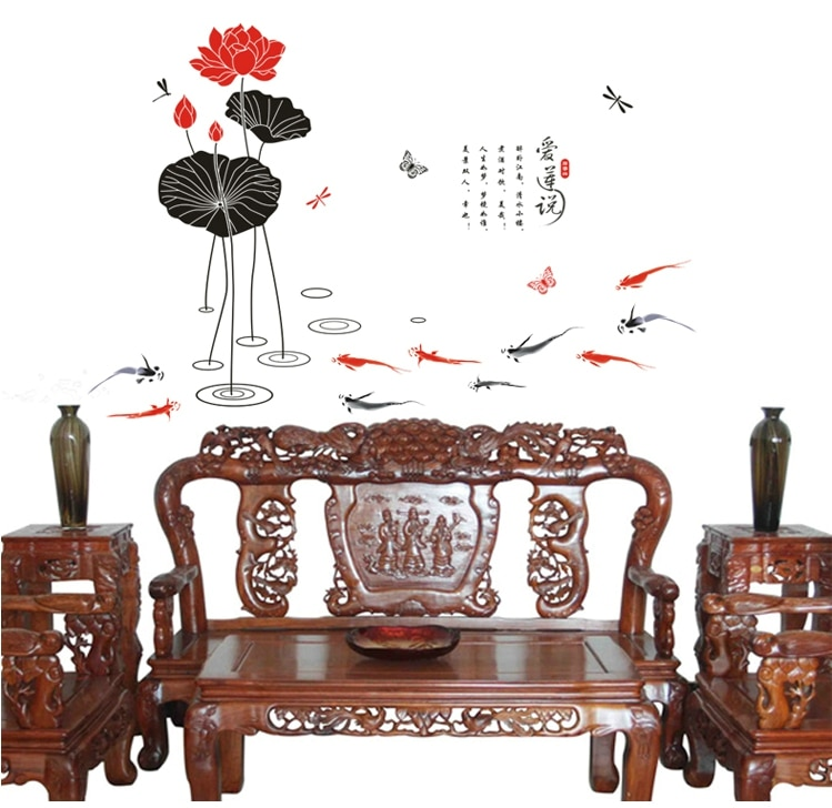 Можно снять гостиную в спальню с чернильной росписью, украшение лотоса, можно удалить 2020