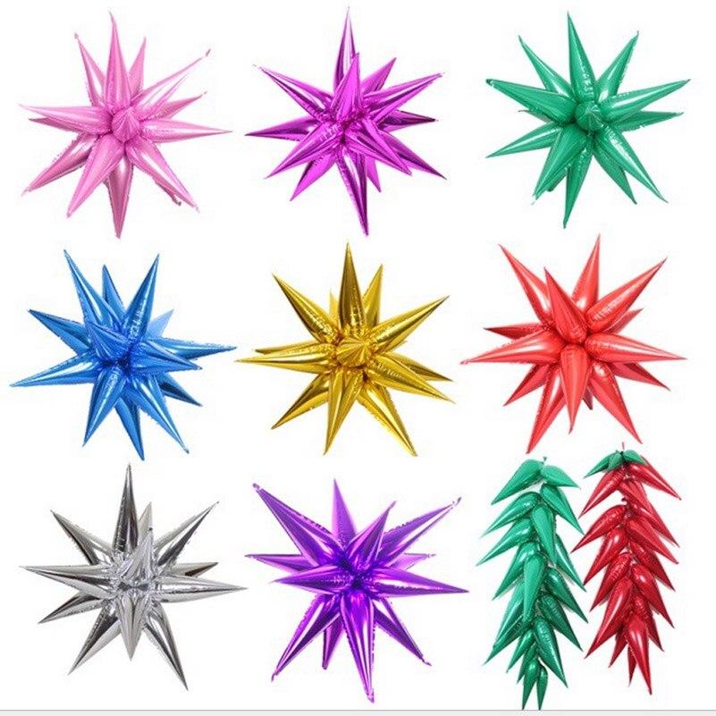 Novo mercado chegada decorações DIY estrela Explosiva as gotas de Água luz balões folha balão fontes do partido do Evento 16 pçs/lote