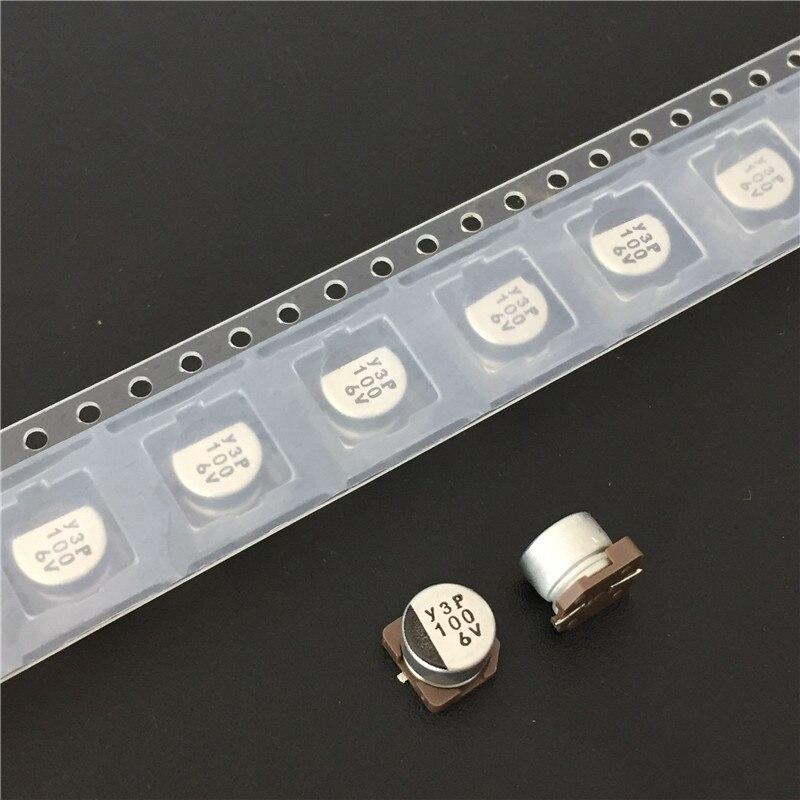 10 Uds 100uF 6,3 V NICHICON serie WF 6,3x5,4mm 6.3V100uF de baja impedancia Chip SMD de tipo condensador electrolítico de aluminio