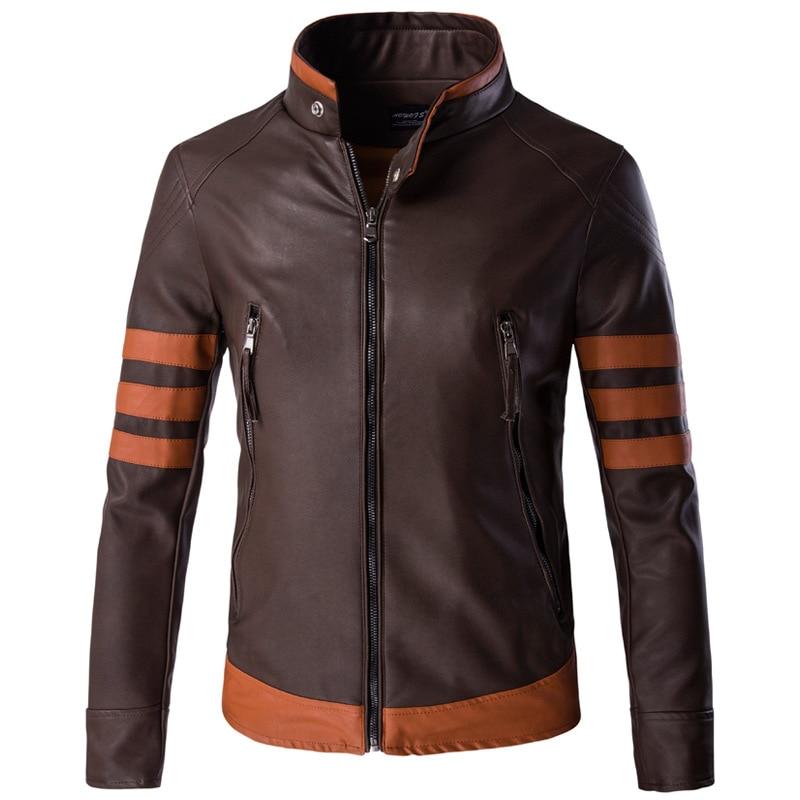 حار 2021 ربيع جديد رجل سترة جلدية الرجال دراجة نارية سستة السترات الذكور موضة عادية الشتاء معطف حجم كبير M-5XL