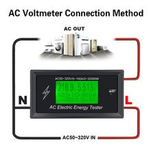 AC50 ~ 320 V 100A Dijital Gerilim Metre göstergesi Güç Enerji Voltmetre Ampermetre akım Amper Volt wattmetre tester dedektörü 3 K KW