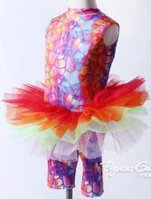 Coloré jazz robinet tutu enfants princesse Ballet danse Tutu filles Ballet danse robe avec pantalon ballet justaucorps