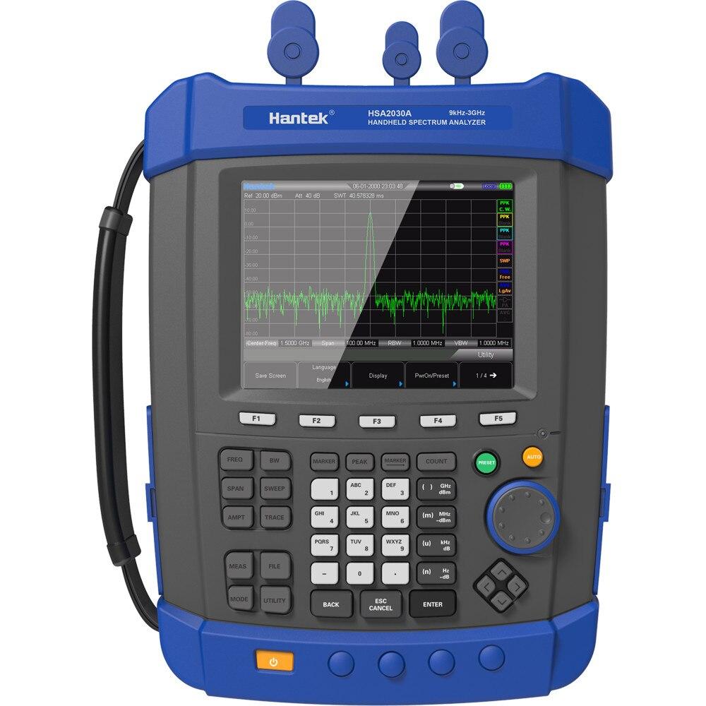 Hantek HSA2030A analizador de espectro Digital 9KHz ~ 3GHz Monitor de espectro 161dB mfrequency spectrograph en venta