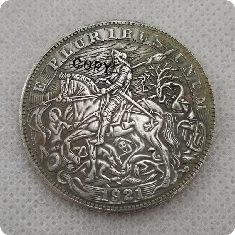 Pièce de monnaie en bois Type # 20_Hobo   1921-P, pièces en copie Dollar Morgan-réplique de pièces commémoratives