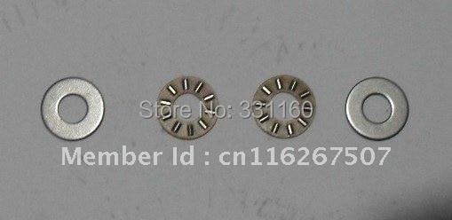 10 piezas jaula de Nylon cojinete de empuje rodamiento de rodillos de aguja con 2 Empuje collares AXK0614 AXK0614TN 6*6*14*3mm