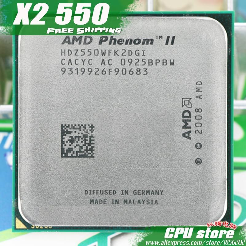 AMD Phenom II X2 550 CPU procesador Dual-Core (3,1 Ghz/6 M/80 W/2000 GHz) am3 am2 + envío gratis 938 pin vender X2 560