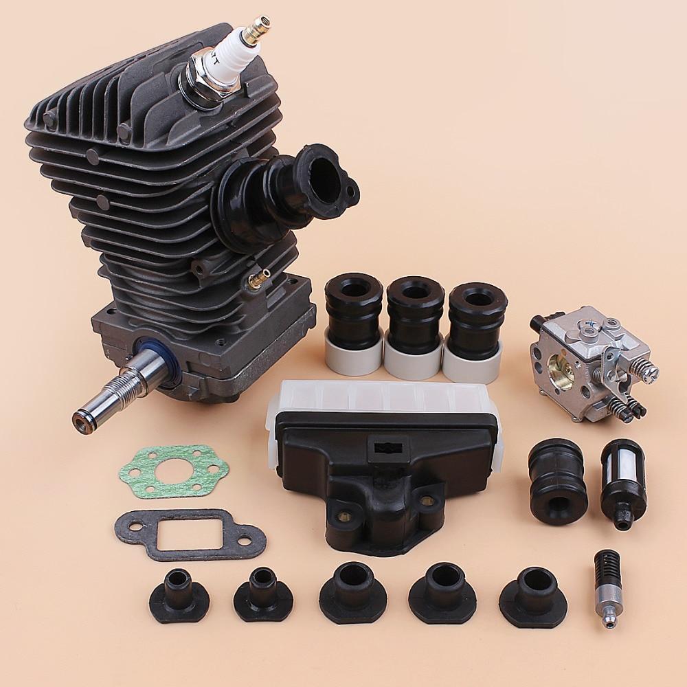 محرك مجموعة اسطوانة المكبس المكربن AV العازلة مجموعة تناسب Stihl MS250 MS230 025 023 MS 250 230 42.5 مللي متر قطع غيار المنشار
