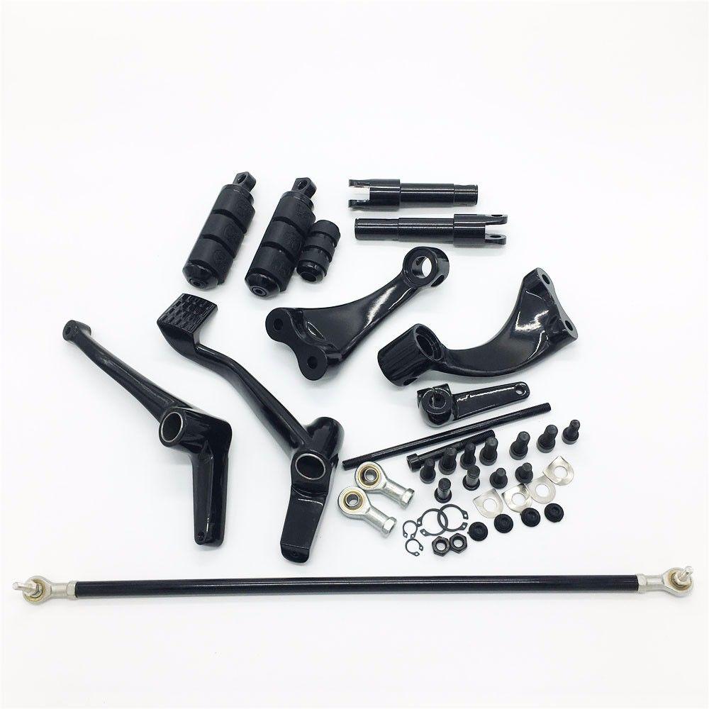 Accesorios de motocicleta, Kit de controles delanteros, clavijas de acoplamiento, palancas para Harley Sportster 883 1200 negro