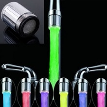 Hot Sale  LED Water Faucet Light Color Changing Glow Shower Head Kitchen Tap Aerators