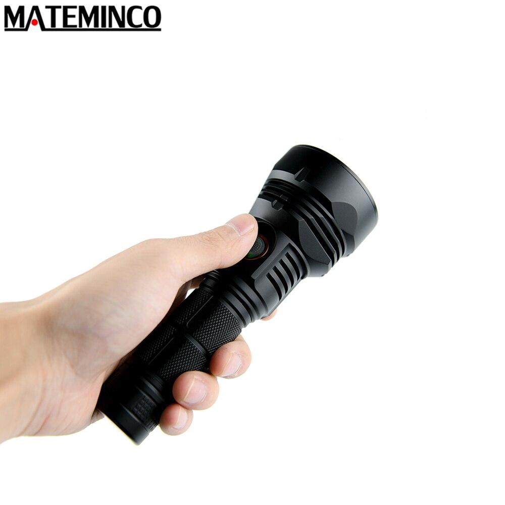 MATEMINCO T02 USB linterna recargable Cree XHP35 Hola max 2250 lumen haz distancia de 800 metros de largo sonó antorcha táctica