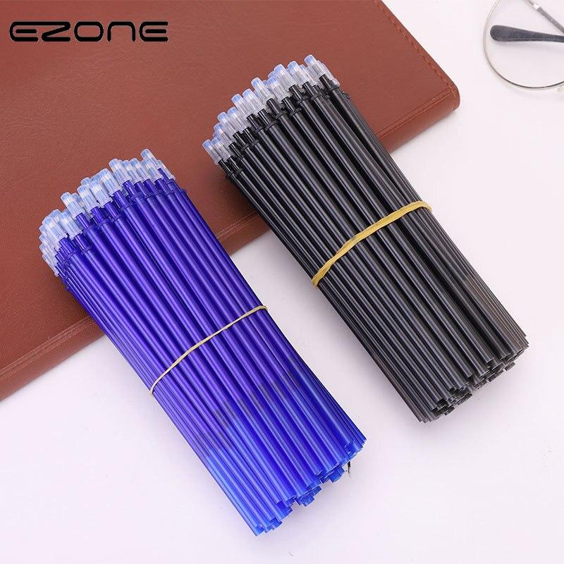 EZONE 20 piezas bolígrafo borrable recargable 0,5mm tinta azul/negro bolígrafo borrable recargable para estudiantes bolígrafo de escritura regalo artículos de papelería para estudiantes