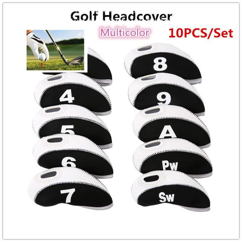 Ninguno 10 unids/set diseño de número Golf Iron Rod cabeza cubre Protector Golf Rod manga Accesorios