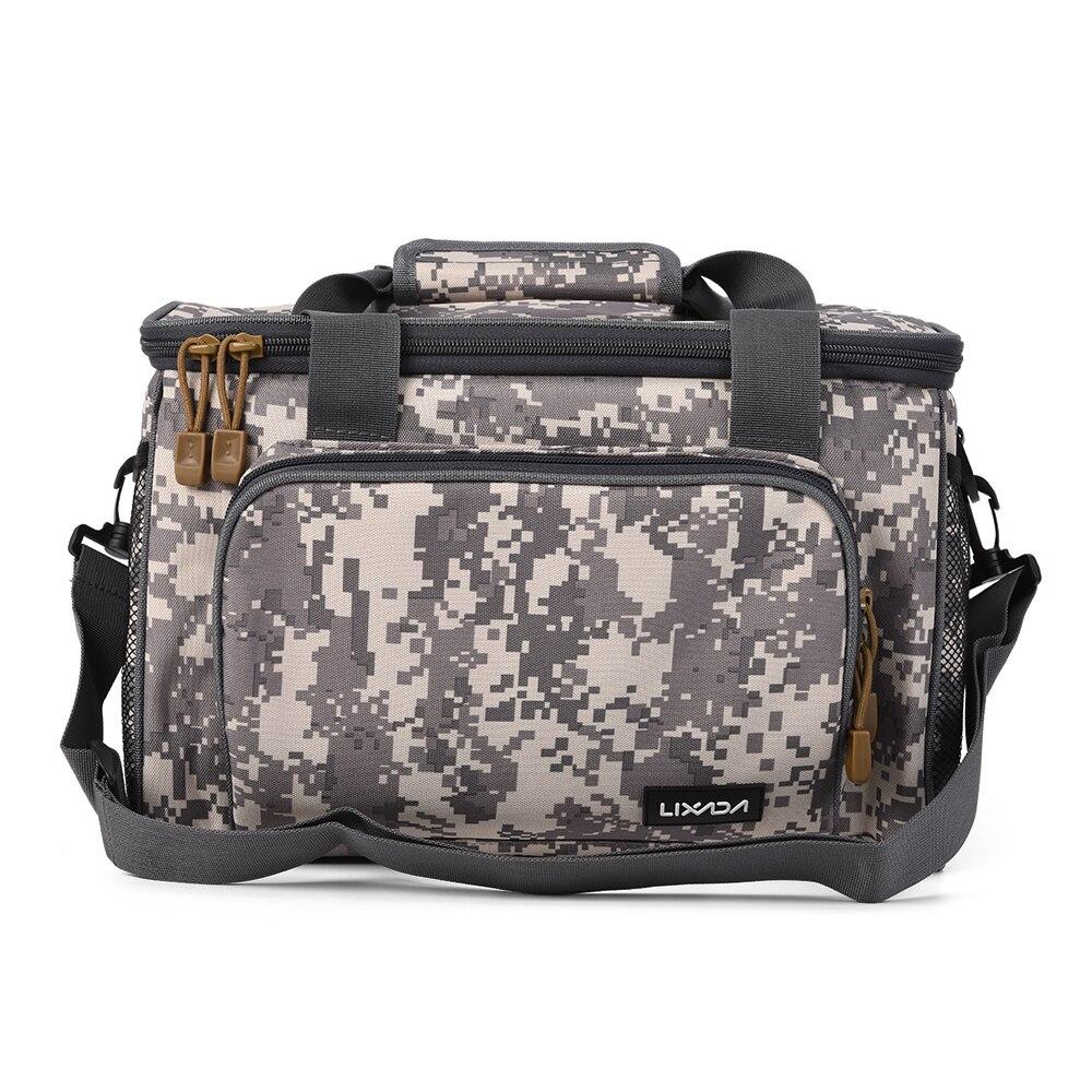 Lixada bolso de hombro de lona multifuncional portátil de pesca bolsa de aparejos de pesca señuelo de pesca bolsa